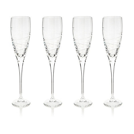 Debenhams - Set of four +Aria+ flutes