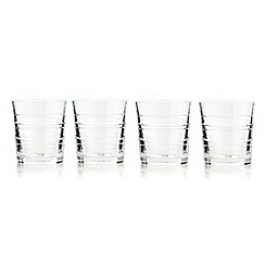 Debenhams - Set of four 24% lead crystal 'Aria' tumblers