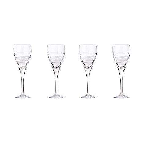 Debenhams - Set of 4 crystal +Aria+ large wine glasses