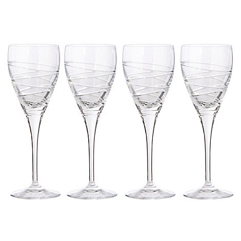 Debenhams - Set of four +Aria+ small wine glasses