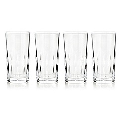 Debenhams - Set of four 24% lead crystal 'Amelia' high ball glasses