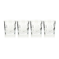 Debenhams - Set of four 24% lead crystal 'Amelia' tumblers