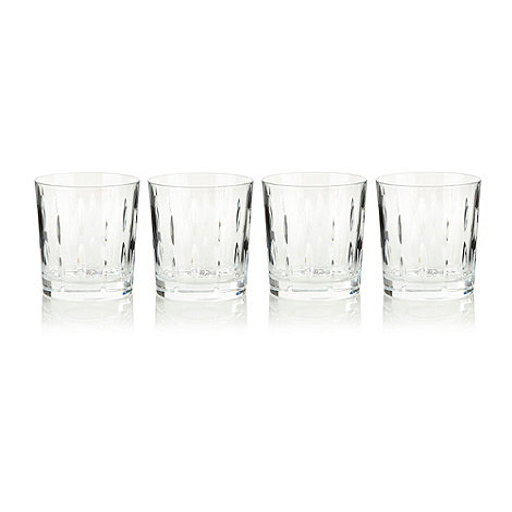 Debenhams - Set of four 24% lead crystal +Amelia+ tumblers