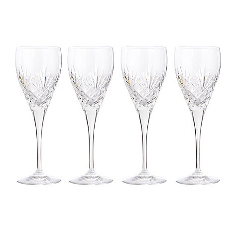 Debenhams - Set of four 24% lead crystal +Castalia+ small wine glasses
