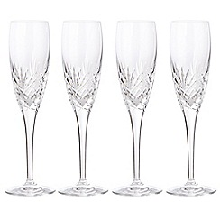 Debenhams - Set of four 'Castalia' champagne flutes