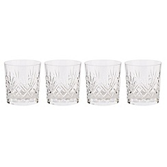 Debenhams - Set of four 24% lead crystal 'Castalia' tumblers