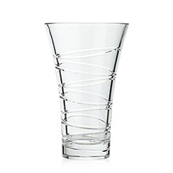Debenhams - 24% lead crystal 'Aria' 10 inch vase