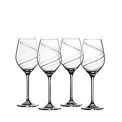 Royal Doulton - Set of 4 crystalline 'Helix' white wine glasses