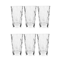 Vidivi Glass made in italy - Set of six ego concerto hi ball glasses