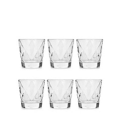 Vidivi Glass made in italy - Set of six ego concerto tumblers
