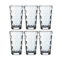 Vidivi Glass made in italy - Set of six honey hi ball glasses