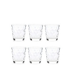 Vidivi Glass made in italy - Set of six ego honey tumblers