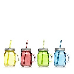 Barcraft - Set of four assorted mason glass jars