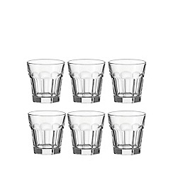 Leonardo - Set of six 'Rock' glass tumblers