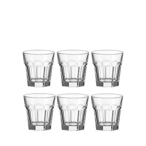 Leonardo - Set of six +Rock+ glass tumblers