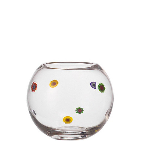 null - Small glass +Millefiori+ flowers vase