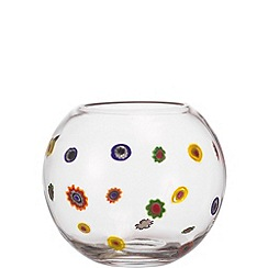 Leonardo - Medium glass 'Millefiori' flowers vase