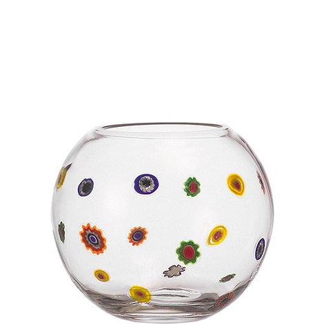 Leonardo - Medium glass +Millefiori+ flowers vase