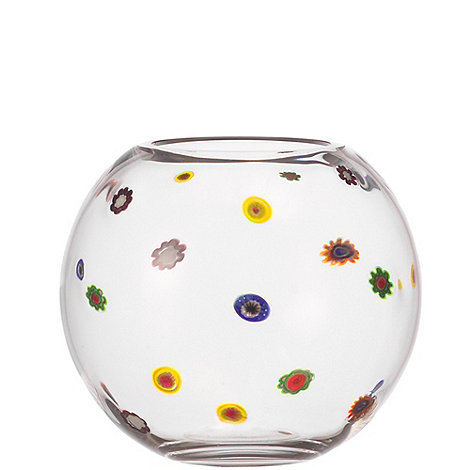 Leonardo - Large glass +Millefiori+ flowers vase