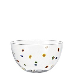 Leonardo - Large glass 'Millefiori' bowl
