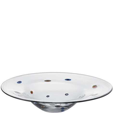 Leonardo - Large glass +Millefiori+ flat bowl