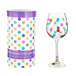 Momo Panache - 'Celebrate' wine glass
