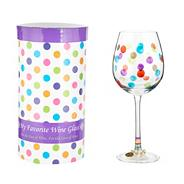'Celebrate' wine glass