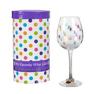'My favourite' wine glass