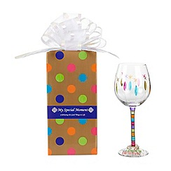 Momo Panache - 'Happy Birthday' wine glass