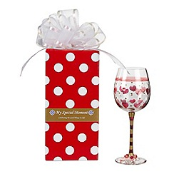 Momo Panache - 'I love you' wine glass