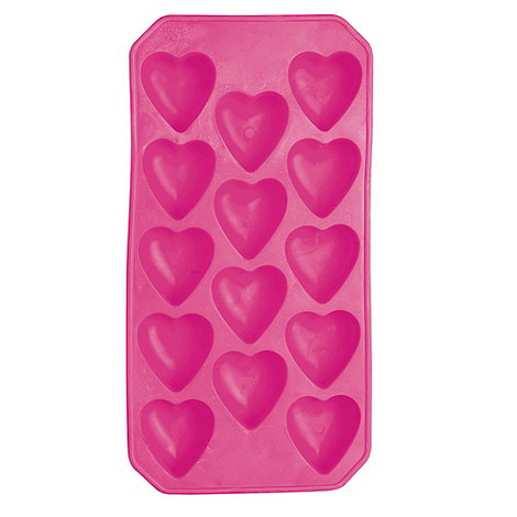Barcraft - Pink heart shaped ice cube tray