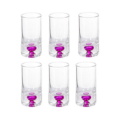 Barcraft - Pack of six pink +City Nights+ shot glasses