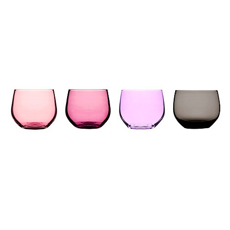 Sagaform - Set of four pink and lilac tumblers