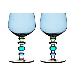 Sagaform - Blue set of two wine glasses