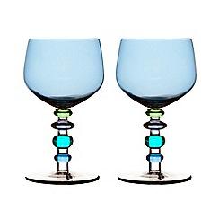 Sagaform - Blue set of two wine glasses
