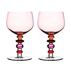 Sagaform - Pink set of two wine glasses