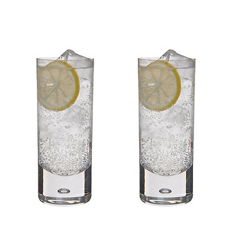 Dartington - Pair of +Exmoor+ crystal hiball glasses