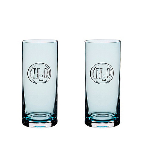 Dartington - Pair of aqua +H20+ hiball glasses