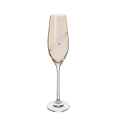Dartington - 2 Gold celebration champagne flutes