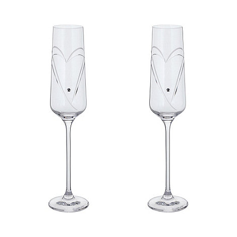 Dartington - Crystal +Romance+ champagne flutes