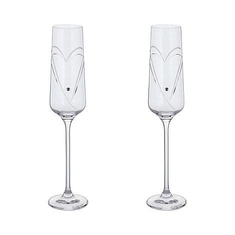 Dartington - Crystal +Romance+ champagne flutes