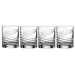 Royal Doulton - Box of four crystalline 'Finsbury' tumblers