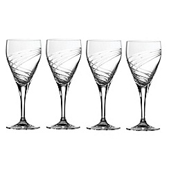 Royal Doulton - Box of four crystalline 'Finsbury' large wine glasses