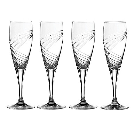 Royal Doulton - Box of four crystalline +Finsbury+ champagne flutes