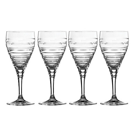Royal Doulton - Set of four +Islington+ crystalline large wine glasses