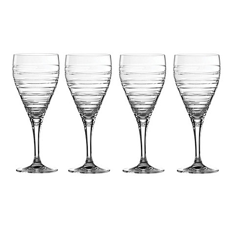 Royal Doulton - Set of four +Islington+ crystalline small wine glasses