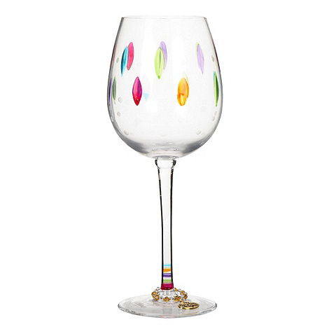 Momo Panache - Glass leaf +Delight+ wine glass