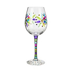 Momo Panache - Individual hand painted 'Thank You' wine glass
