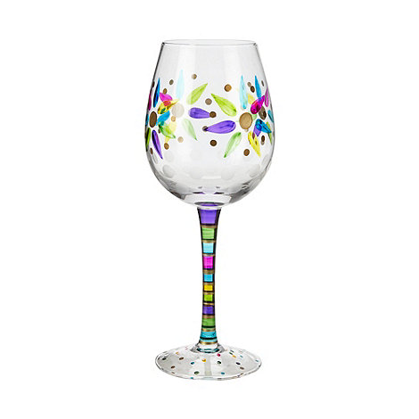 Momo Panache - Individual hand painted +Thank You+ wine glass