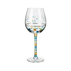 Momo Panache - Individual hand painted 'Congrats' wine glass